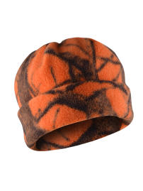 Fleece cap - camo orange